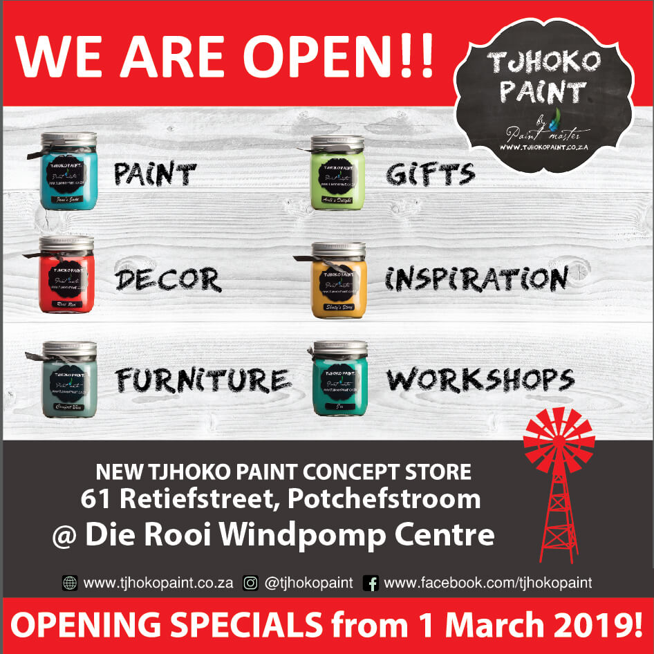 Tjhoko Paint – NEW Concept Store in Potch