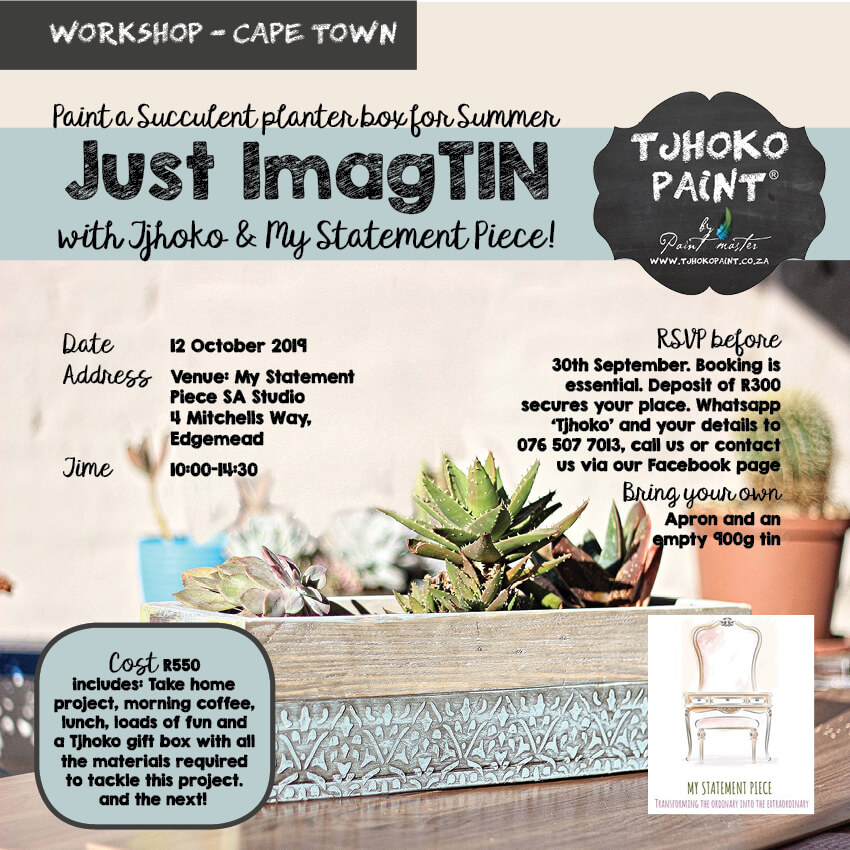 Just Imag-tin with Tjhoko & My Statement Piece 12 October 2019 in Cape Town