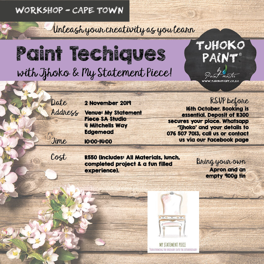 Creative Paint Techniques Workshop Cape Town 02 November 2019.