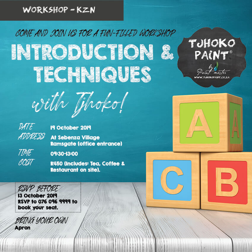 Tjhoko Paint Introduction & Techniques Workshop 19 October 2019.