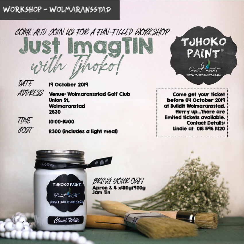 Just Imag-tin with Tjhoko 19 October 2019 in Johannesburg