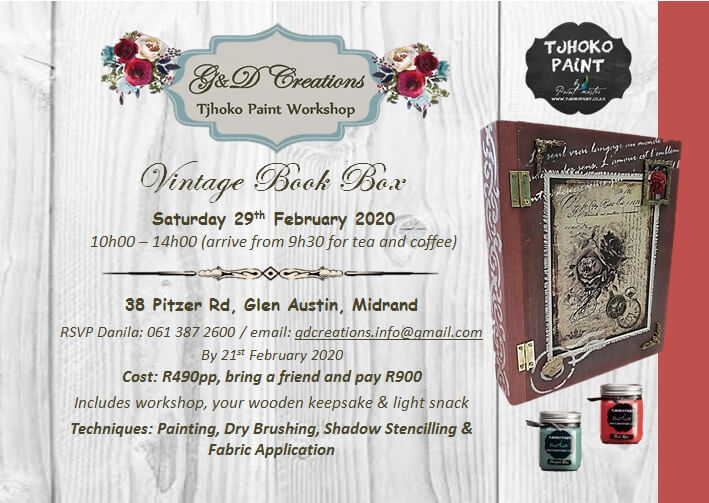 G & D Creations – Vintage Book Box 29 February