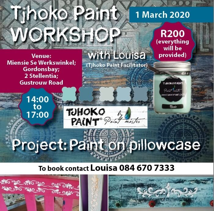 Miensie se Werkswinkel – Gordon's Bay – 1 March 2020